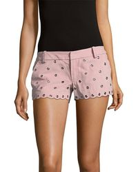 RED Valentino - Leather Short - Lyst