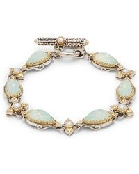 Konstantino - Amphitrite 3mm-4mm White Freshwater Pearl, 18k Gold & Sterling Silver Bracelet - Lyst
