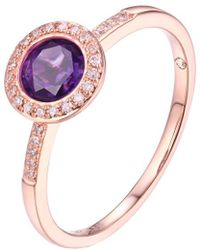 Diana M. Jewels - . Fine Jewellery 14k Rose Gold 0.81 Ct. Tw. Diamond & Amethyst Ring - Lyst