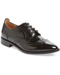 Aquatalia - Gwen Pebbled Patent Leather Oxford Shoes - Lyst