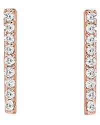 Ariana Rabbani - 14k Rose Gold Diamond Bar Drop Earrings - Lyst