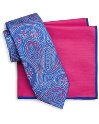 Ted Baker - Two-piece Ornate Paisley Silk Tie And Pocket Square Set - Lyst