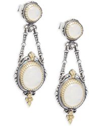 Konstantino - Labradorite, 18k Yellow Gold & Sterling Silver Dangle Earrings - Lyst