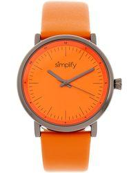 Simplify - Unisex The 6200 Watch - Lyst