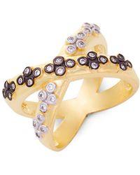 Freida Rothman - Clover Crisscross Sterling Silver Ring - Lyst
