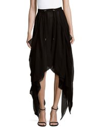 Balmain - Asymmetrical Silk Skirt - Lyst
