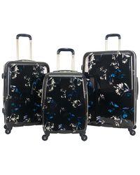 Aimee Kestenberg - Midnight Floral 3pc Hardside Luggage Set - Lyst
