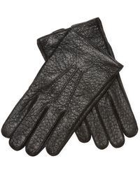 Jil Sander | Leather Ribbed Front Gloves | Lyst