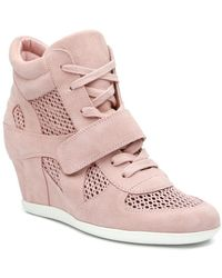 Ash Bowie Suede Perforated Wedge Trainer