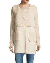 Love Token - Nicole Patchwork Faux Fur Jacket - Lyst