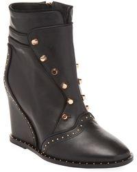 Ivy Kirzhner - Sovereign Studded Wedge Ankle Boot - Lyst