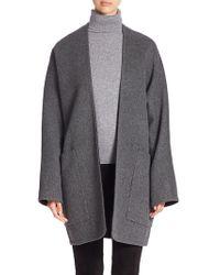 Vince - Reversible Wool & Cashmere Cardigan Coat - Lyst