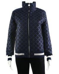 Chanel - Navy Bomber Jacket, Size Fr 34 - Lyst