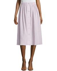 ABS By Allen Schwartz | Cotton Textured A Line Skirt | Lyst