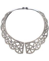 Oscar de la Renta - Scalloped Web Necklace - Lyst