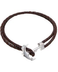 Mateo Bijoux - Anchor Leather Bracelet - Lyst