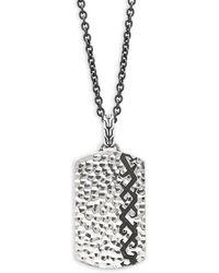 John Hardy - Dayak Sterling Silver Tag Pendant Necklace - Lyst