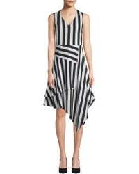 Vince Camuto - Spectator Patchwork A-line Dress - Lyst