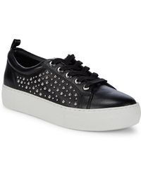 J/Slides - Studded Leather Platform Trainers - Lyst
