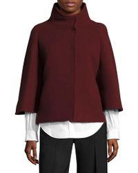 AQUILANO.RIMONDI Wool Cape Coat