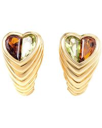BVLGARI - Bulgari 18k 5.00 Ct. Tw. Gemstone Heart Earrings - Lyst