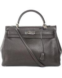 Hermès - Brown Togo Leather Kelly 35cm Phw - Lyst