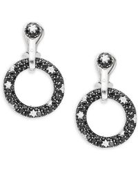 Roberto Coin | Basic Gold Diamond, Black Sapphire & 18k White Gold Drop Earrings | Lyst