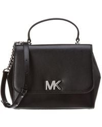 35505696ab2f MICHAEL Michael Kors - Michael Kors Mott Medium Top Handle Leather Satchel  - Lyst