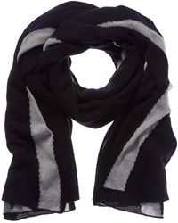 White + Warren - Black Cashmere Scarf - Lyst