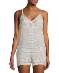 Young Fabulous & Broke Fedora Cut-out Romper - White