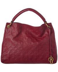Louis Vuitton - Purple Monogram Empreinte Leather Artsy Mm - Lyst