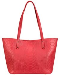 Gigi New York - Mini Taylor Python-embossed Leather Tote - Lyst