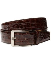Leone Braconi - Crocodile Leather Belt - Lyst