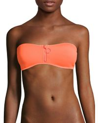 Stella McCartney - Neoprene & Mesh Bikini Top - Lyst