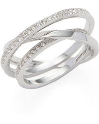 Swarovski - Spiral Pavé Trend Ring - Lyst