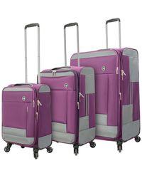 Mia Toro - Sardinia Softside 3pc Luggage Set - Lyst