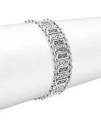 Lois Hill - Silver Small Classic Alternating Bracelet - Lyst