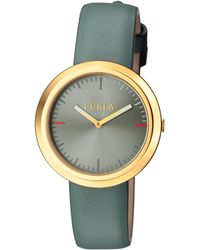 Furla - Valentina Stainless Steel & Leather Watch, 34mm - Lyst