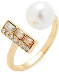 Rebecca Minkoff - Pearl And Stone U Ring - Lyst