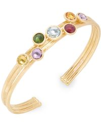 Marco Bicego - Jaipur 18k Three-row Multi-stone Bangle - Lyst