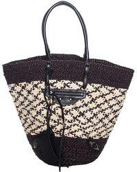 22a7b475edd Lyst - Gucci Nymphaea Leather Top Handle Bag