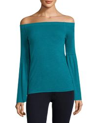Three Dots - Off Shoulder Bell Sleeve Top - Lyst