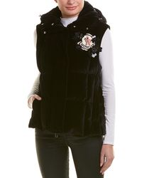 Moncler - Hooded Down Velvet Vest - Lyst