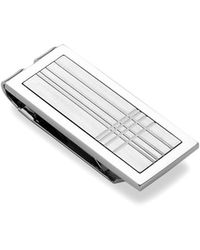 Lotus - Textured Stainless Steel Money Clip - Lyst