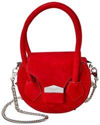 SALAR MILANO Mimi Soft Suede Shoulder Bag - Red