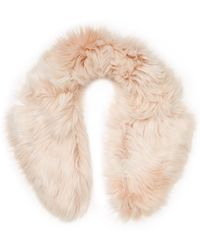 RED Valentino - Plush Faux Fur Collar - Lyst