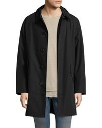 Fred Perry - Solid Spread Collar Raincoat - Lyst