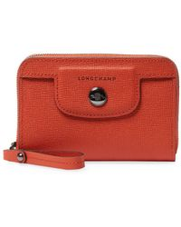 Longchamp - Le Pliage Heritage Leather Zip Around Long Wallet - Lyst