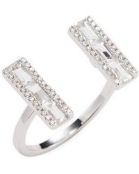 EF Collection - Diamond & Sapphire Open Ring - Lyst