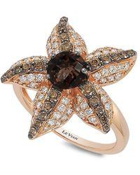 Le Vian   Chocolatier Diamond, Chocolate Quartz And 14k Strawberry Gold Starfish Ring   Lyst